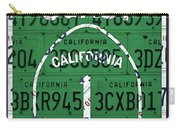 California Route 1 Pacific Coast Highway Sign Recycled Vintage License Plate Art Carry-all Pouch