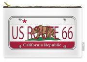 California Route 66 License Plate Carry-all Pouch