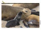 California Sea Lion And Newborn Pup San Carry-all Pouch by Suzi Eszterhas