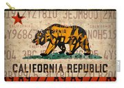 California State Flag Recycled Vintage License Plate Art Carry-all Pouch