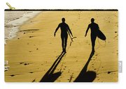 California Surfers On The Beach Carry-all Pouch