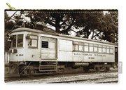 California Western  M 100 Gas Railcar  Skunk Train  Circa 1930 Carry-all Pouch