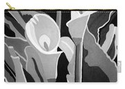 Calla Lilies Bw Carry-all Pouch