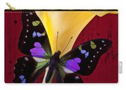 Calla Lily And Purple Black Butterfly Carry-all Pouch by Garry Gay