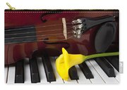 Calla Lily And Violin On Piano Carry-all Pouch