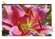 Calla Lily Art Prints Pink Lilies Flowers Baslee Troutman Carry-all Pouch