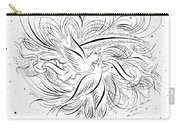 Calligraphic Love Birds Carry-all Pouch