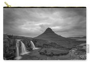 Calm Before The Storm At Kirkjufell Bw Carry-all Pouch