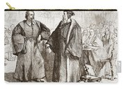 Calvin And Servetus Before The Council Of Geneva Carry-all Pouch