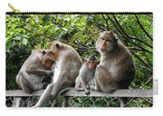 Cambodia Monkeys 5 Carry-all Pouch