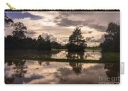 Cambodian Countryside Rice Fields Reflection Carry-all Pouch