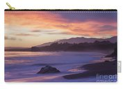 Cambria Coastline With Purple Sunset Colors Carry-all Pouch