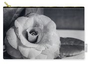 Camellia Back And White Carry-all Pouch