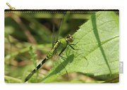Cameo Green Dragonfly Carry-all Pouch