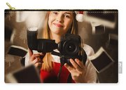 Camera Holding Santa Helper Taking Christmas Photo Carry-all Pouch