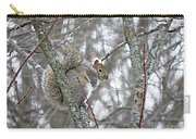 Camera Shy Grey Squirrel Carry-all Pouch