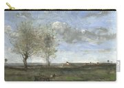 Camille Corot   A Wagon In The Plains Of Artois Carry-all Pouch