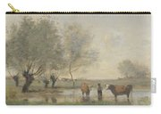 Camille Corot   Cows In A Marshy Landscape Carry-all Pouch