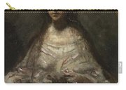Camille Corot   Sketch Of A Woman In Bridal Dress Carry-all Pouch