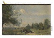 Camille Corot   The Wagon Souvenir Of Saintry Carry-all Pouch