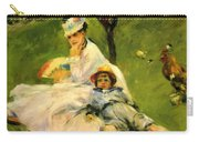 Camille Monet And Her Son Jean In The Garden At Argenteuil 1874 Carry-all Pouch