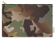 Camouflage Pattern Background  Clothing Print, Repeatable Camo G Carry-all Pouch