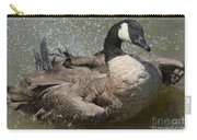 Canada Goose Bathing In Lake Carry-all Pouch