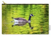 Canada Goose Swimming In A Pond Carry-all Pouch