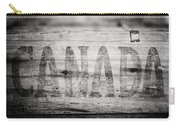Canada In Black And White Carry-all Pouch