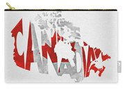Canada Typographic Map Flag Carry-all Pouch