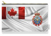 Canadian Armed Forces  -  C A F  Badge Over Flag Carry-all Pouch