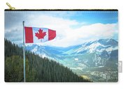Canadian Flag Over Banff Carry-all Pouch