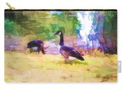 Canadian Geese In The Park 3 Carry-all Pouch
