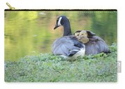 Canadian Goose Mother And Babies Carry-all Pouch