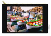 Canal Boats On A Canal In Venice L A S Carry-all Pouch