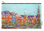 Canal Of Amsterdam, Bridge And Westerkerk Carry-all Pouch