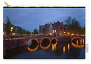 Canals Of Amsterdam At Night Carry-all Pouch