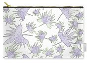 Canary Vine Leaves - Purple And Green Carry-all Pouch
