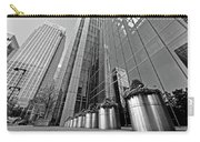 Canary Wharf Financial District In Black And White Carry-all Pouch