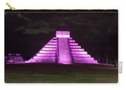 Cancun Mexico - Chichen Itza - Temple Of Kukulcan-el Castillo Pyramid Night Lights 2 Carry-all Pouch