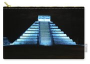 Cancun Mexico - Chichen Itza - Temple Of Kukulcan-el Castillo Pyramid Night Lights 3 Carry-all Pouch