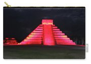 Cancun Mexico - Chichen Itza - Temple Of Kukulcan-el Castillo Pyramid Night Lights 4 Carry-all Pouch