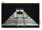 Cancun Mexico - Chichen Itza - Temple Of Kukulcan-el Castillo Pyramid Night Lights 8 Carry-all Pouch