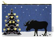 Candlelit Christmas Tree And Moose In The Snow Carry-all Pouch