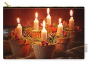 Candles In Terracotta Pots Carry-all Pouch by Amanda Elwell