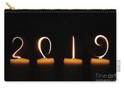 Candles New Year Card Carry-all Pouch