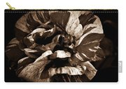 Candy Stripe Rose Sepia  Carry-all Pouch