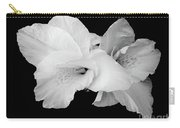 Canna Lily In Black And White Carry-all Pouch
