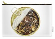 Canned Time - Parts Of Clockwork Mechanism In The Can Carry-all Pouch by Michal Boubin
