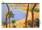 Cannes Vintage Travel Poster Carry-all Pouch